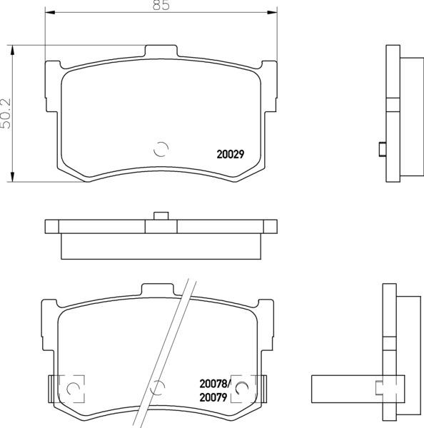 Rear Brake Pad Set