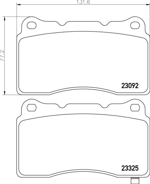EURO-1001 7902 FRONT DISC BRAKE PAD