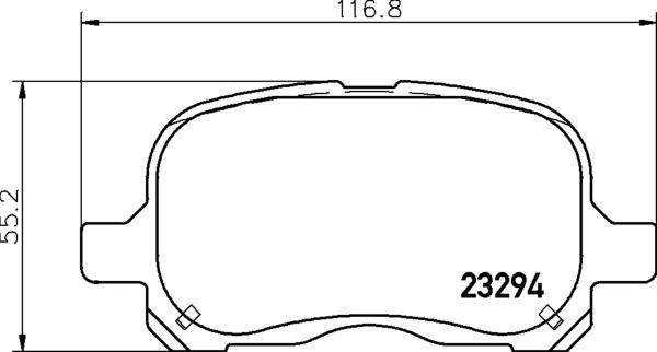 Remsa Front Brake Pad Set