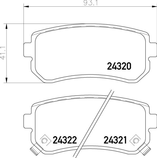 Remsa Rear Brake Pad Set (Copy)