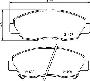 EURO-1578 8791 Front Disc Brake Pad