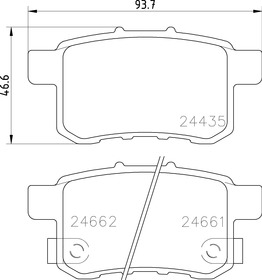 EURO-1451 8447 Rear Disc Brake Pad