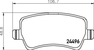 P86021N Disc Brake Pad Set