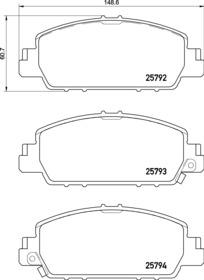 EURO-1654 8883 Front Disc Brake Pad